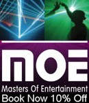 Masters Of Entertainment - Mention Indian Events for 10% off